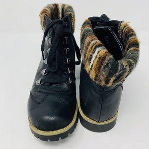 Cliffs White Mountain Combat Black Hiking Boots